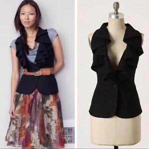 Anthropologie Falling In Love Wool Vest Black